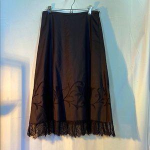 Women's Ann Taylor Loft Elegant Black Flare Skirt